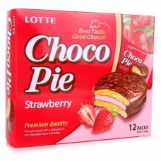 Печенье Lotte Choco Pie Strawberry 28gr
